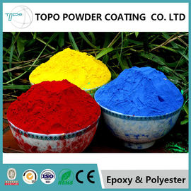 Cina Hammer Texture Metallic Red Powder Coat, Reliable Powder Coated Paint Untuk Logam pemasok