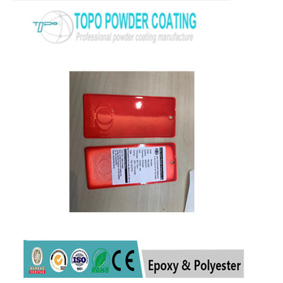 Safe High Gloss Polyester Powder Coating RAL3026 Warna merah Untuk Mebel Logam
